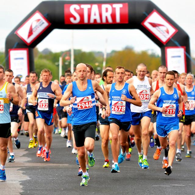 """""""Sunderland Marathon"""" stock image"""