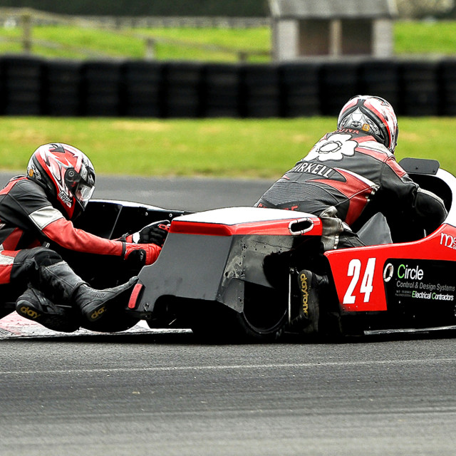 """British F1 Sidecar"" stock image"