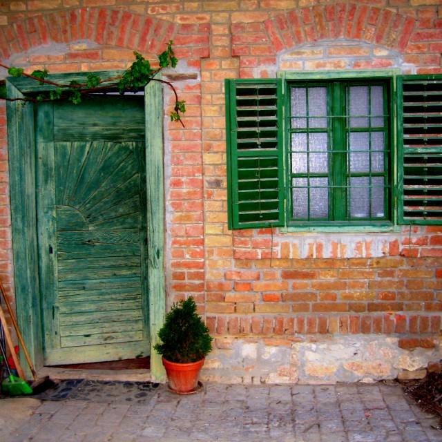 """""""Green Door"""" stock image"""