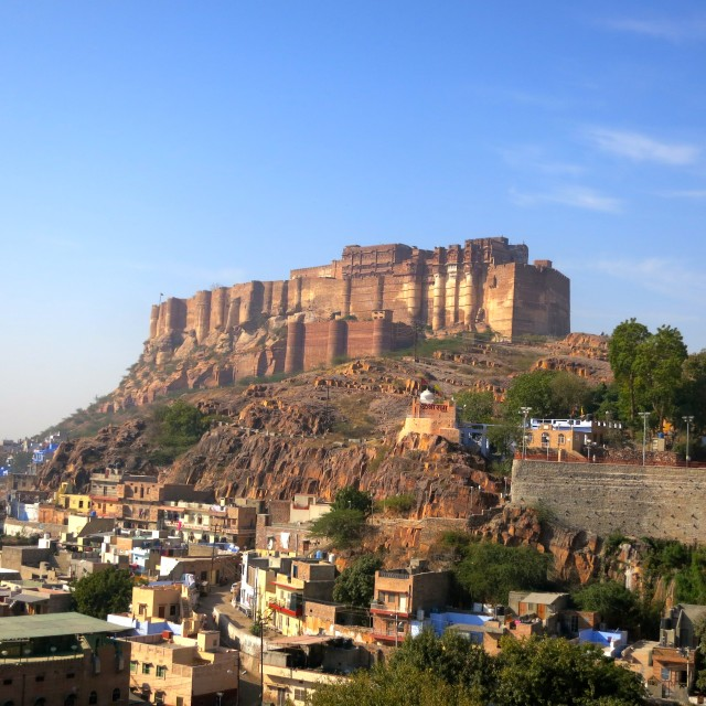 """Mehrangarh Fort in Jodhpur India"" stock image"