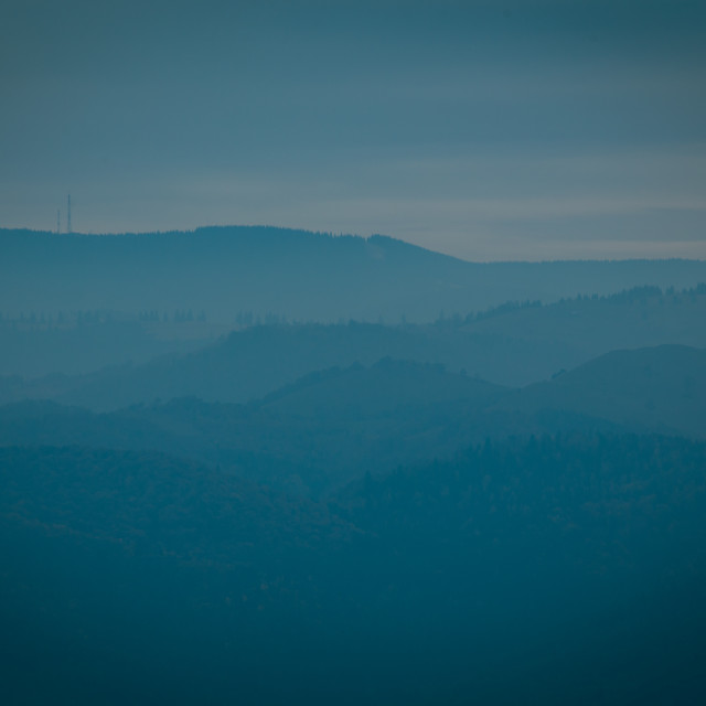 """""""Lonely Hills"""" stock image"""