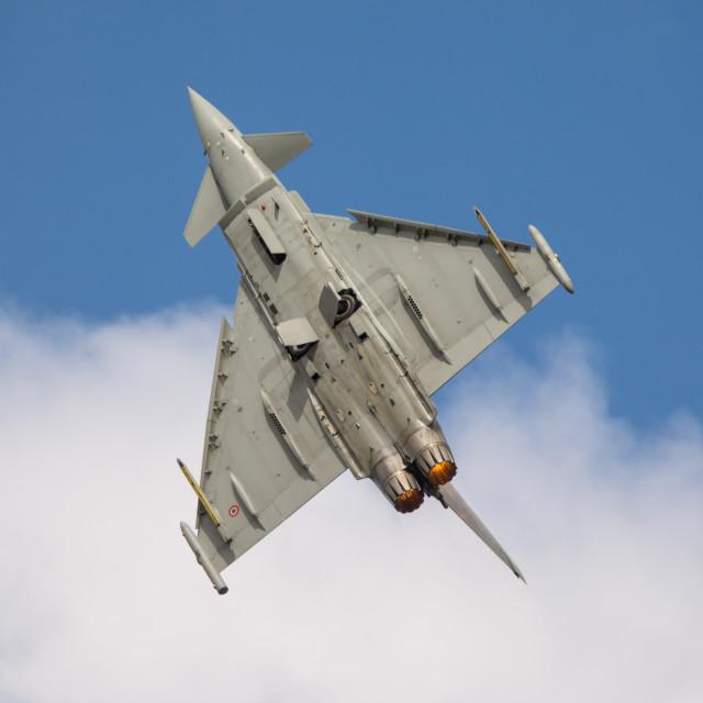"""Italian Typhoon at RIAT 2014"" stock image"