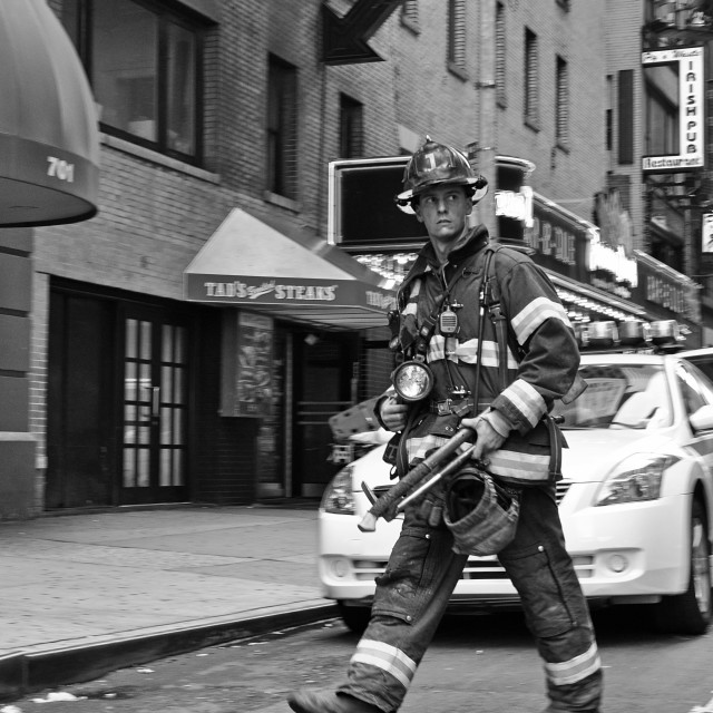 """New York fireman"" stock image"