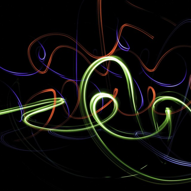 """""Multi-Colored Light Painting"""" stock image"