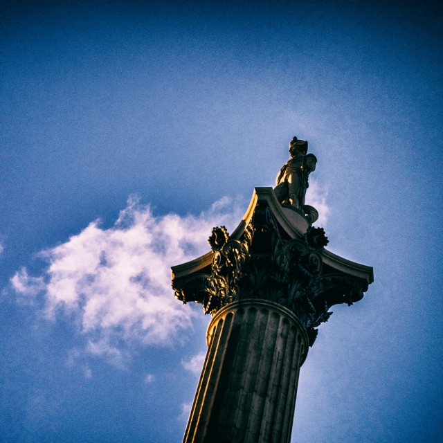 """Nelson's Column - London"" stock image"
