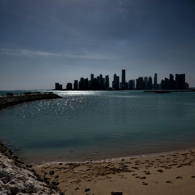 """Doha Skyline"" stock image"
