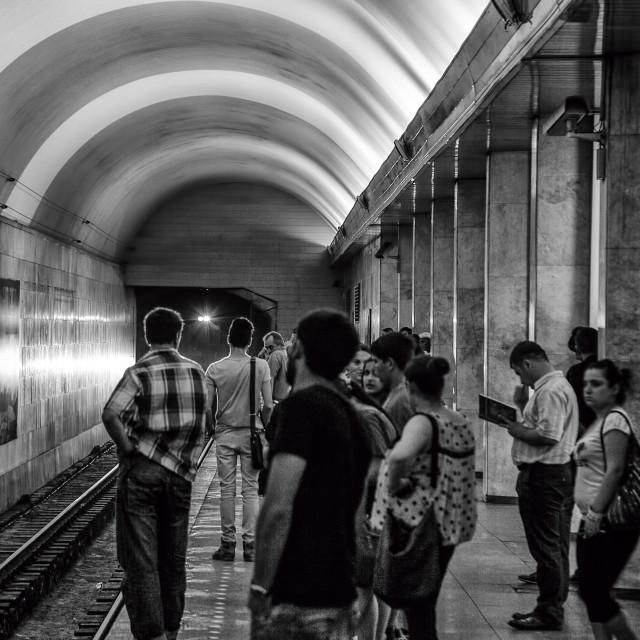 """Train arriving"" stock image"