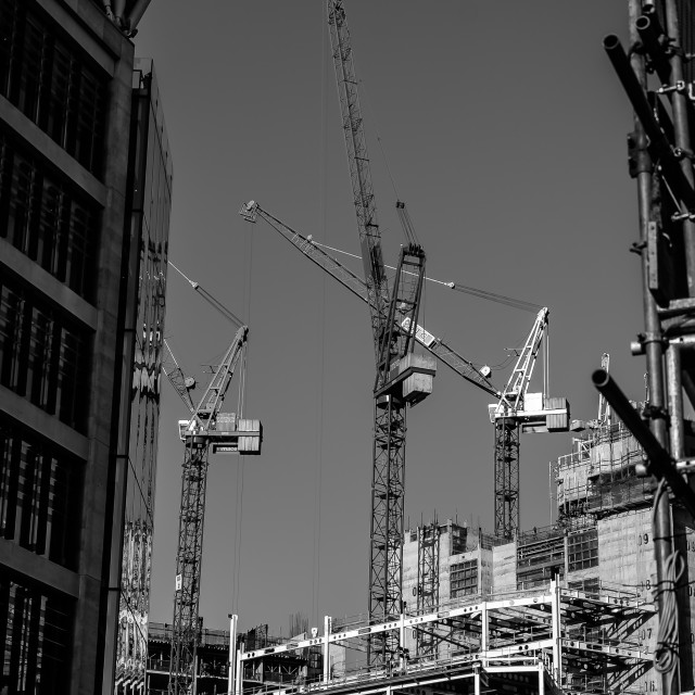 """London Construction"" stock image"