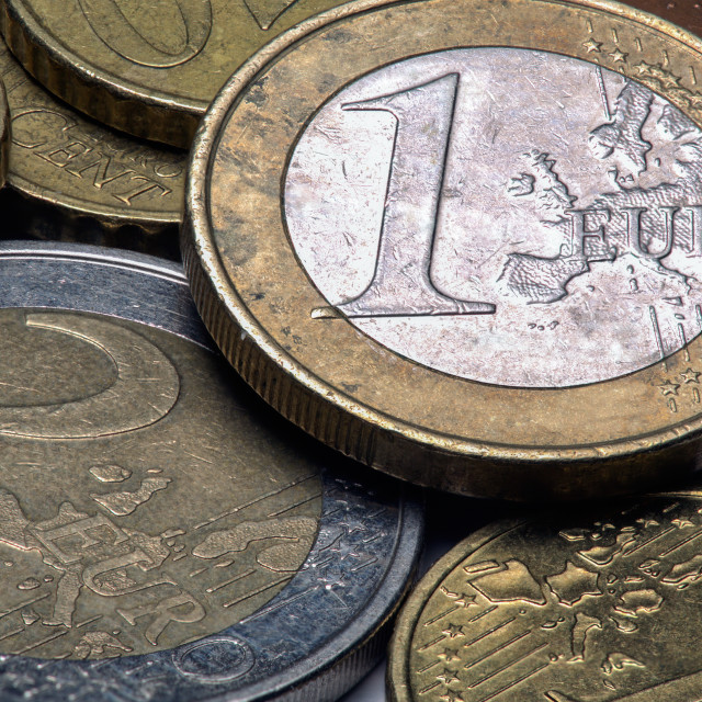 """Euro coins"" stock image"