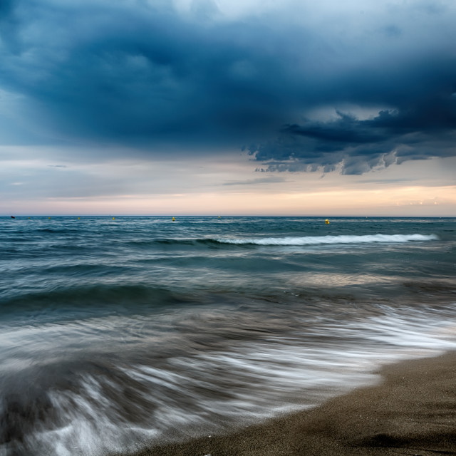 """""""Amazing sky with clouds before a storm on the Sea"""" stock image"""