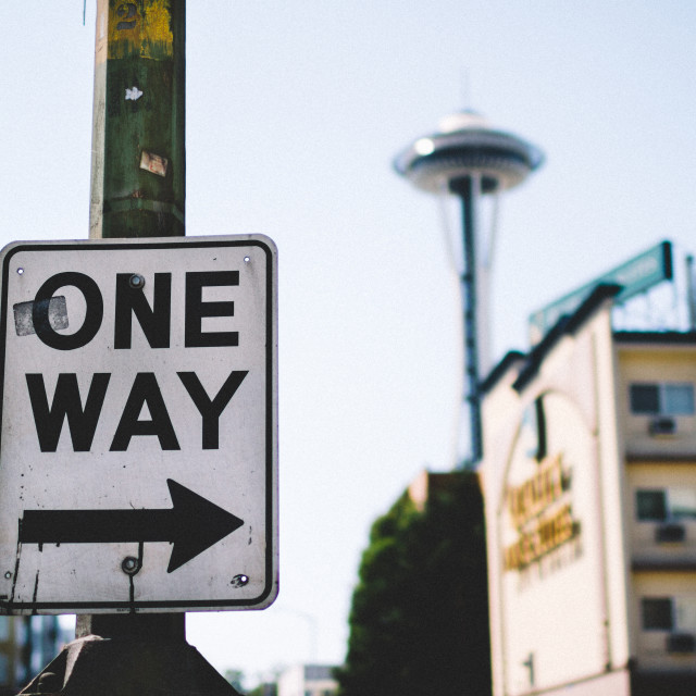 """One Way to Seattle"" stock image"