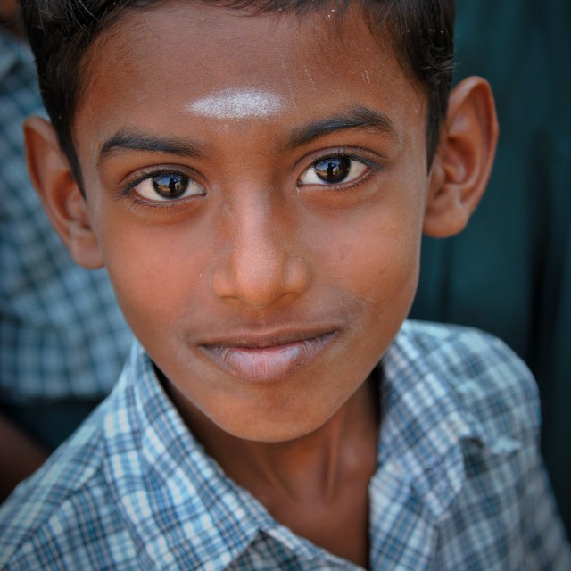 """Indian Schoolboy"" stock image"