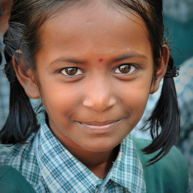 """Indian Schoolgirl"" stock image"