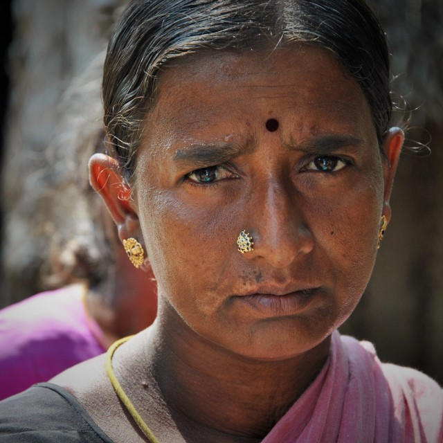 """Sad Indian Lady"" stock image"