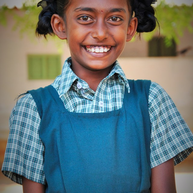"""Happy Indian Schoolgirl"" stock image"