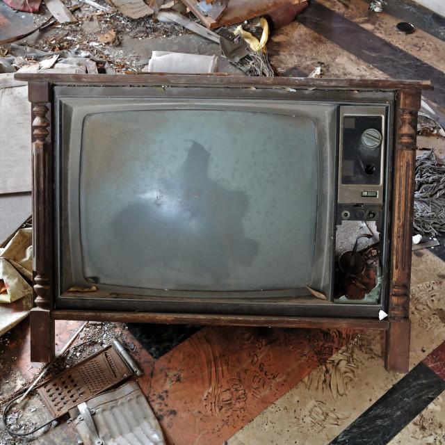 """vintage tv set"" stock image"