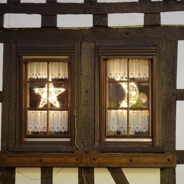 """Window at Christmas"" stock image"