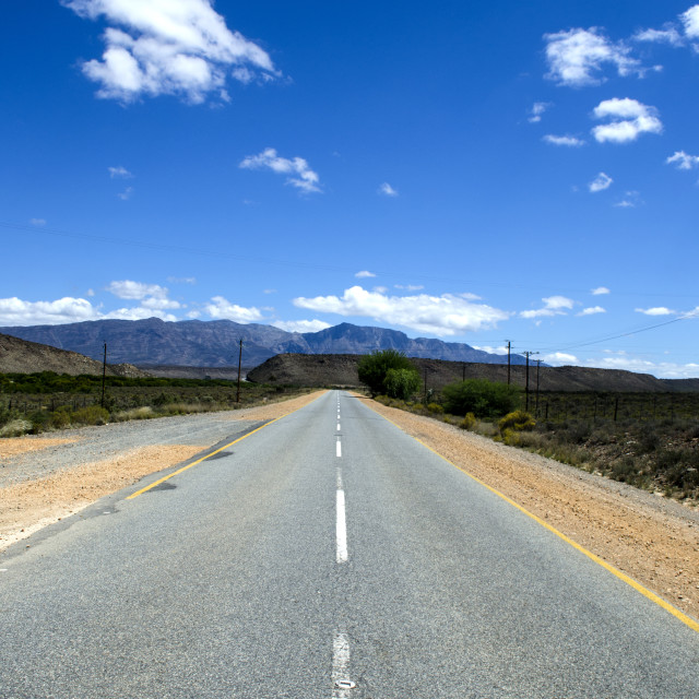 """""""Road into Blue"""" stock image"""