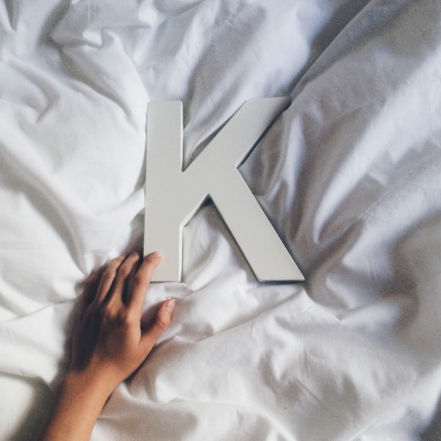 """K for Kristin."" stock image"