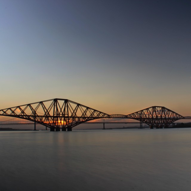 """The Forth Bridges"" stock image"