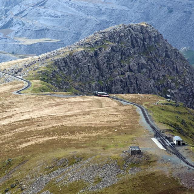 """""""Snowdon railway"""" stock image"""
