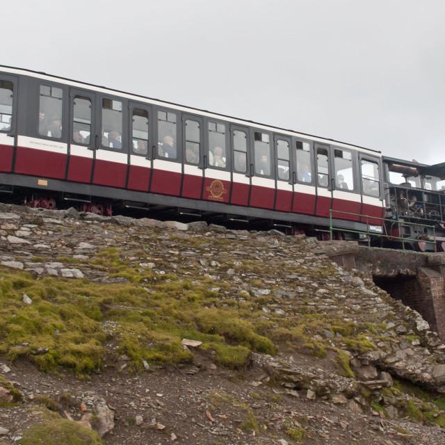 """Snowdon carriage"" stock image"