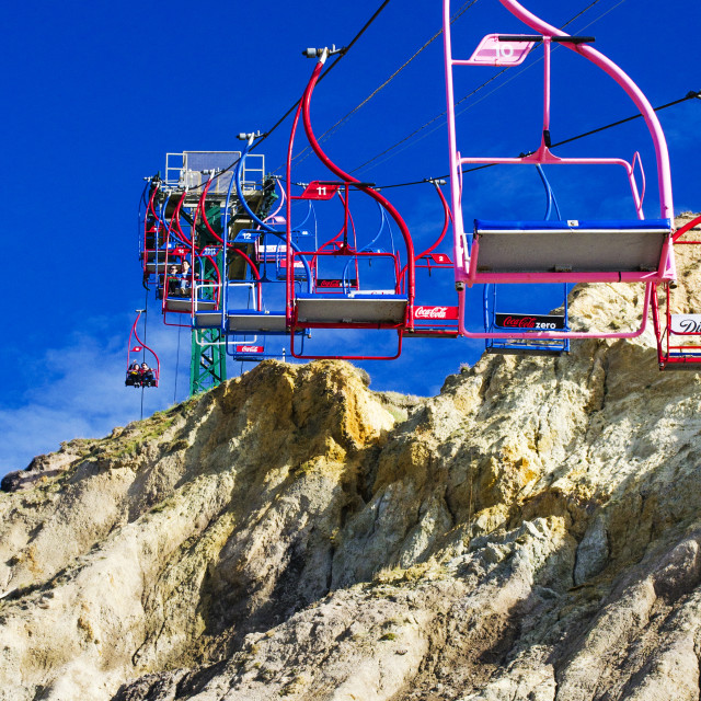 """Alum Bay Chairlift"" stock image"