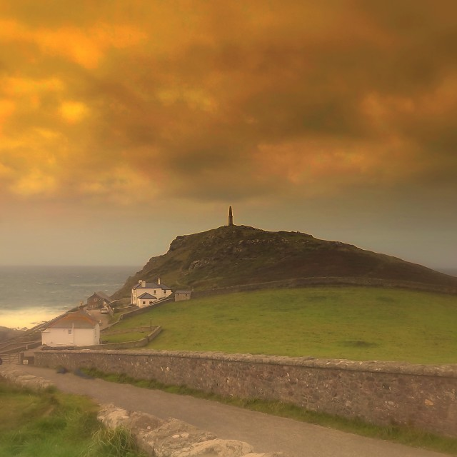 """""""Cape Cornwall, Sky And Seascape"""" stock image"""