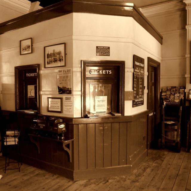 """Railway Station Ticket Office"" stock image"