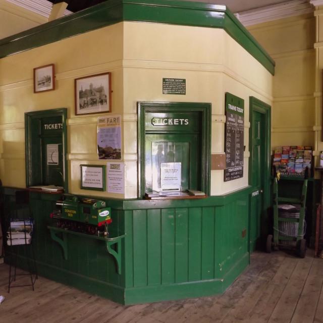 """Corfe Railway Station Ticket Office"" stock image"