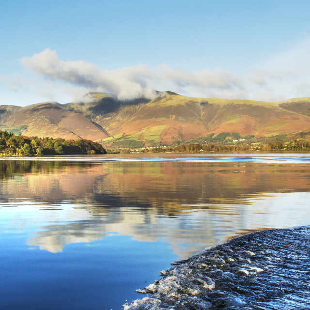 """Skiddaw reflections, mountainscape"" stock image"