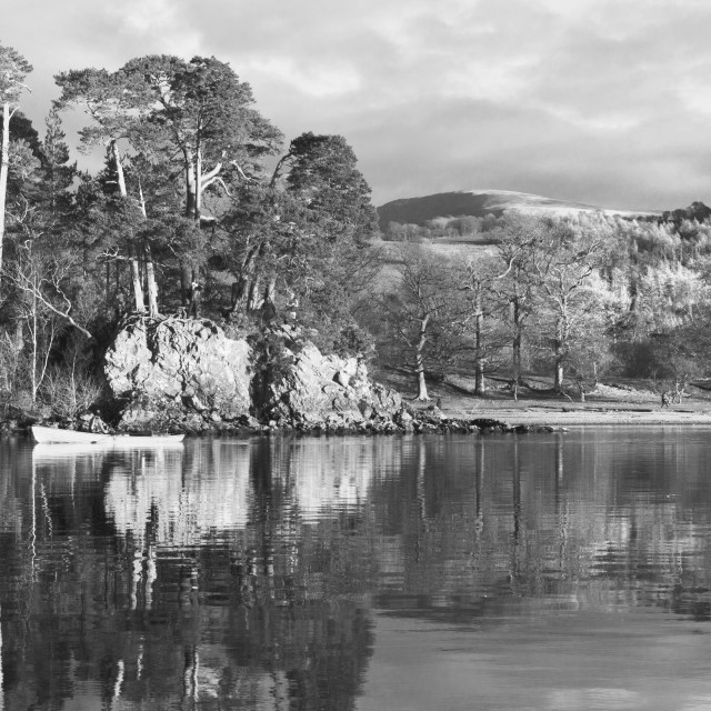 """Friars Crag, Black And White"" stock image"