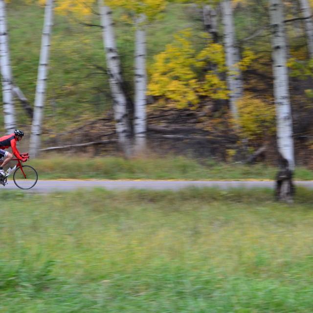 """Fall speed biker"" stock image"