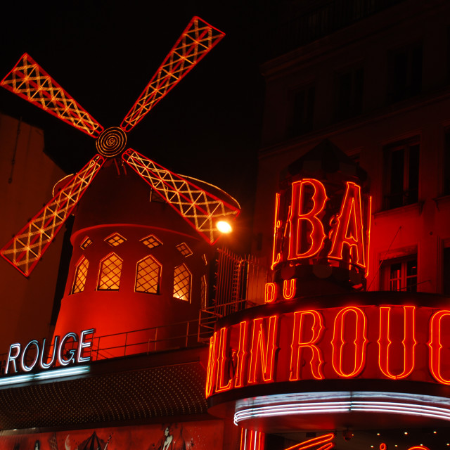 """""""Moulin Rouge"""" stock image"""