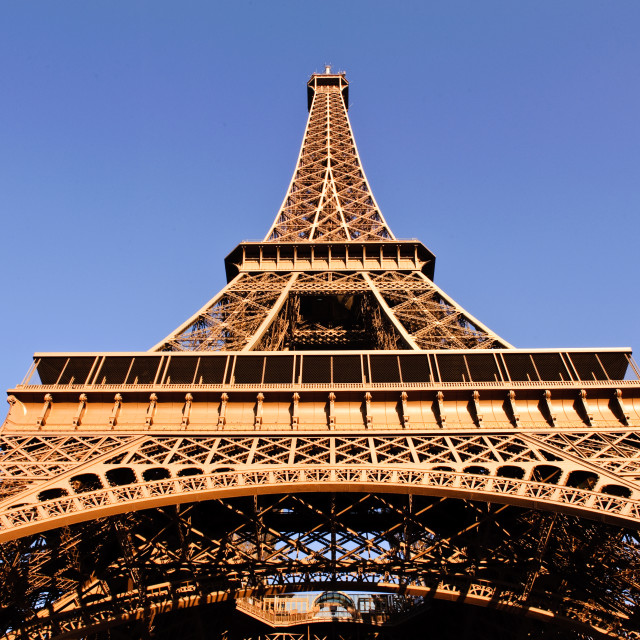 """Straight Up - Eiffel Tower"" stock image"