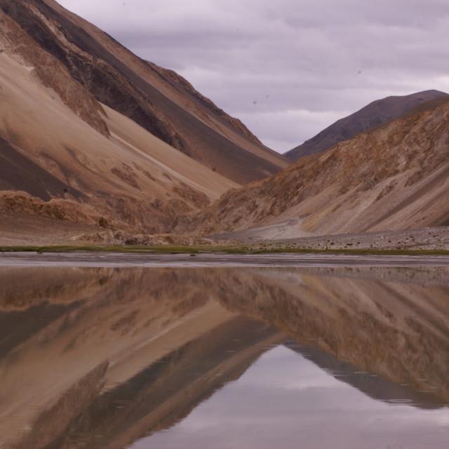 """""""Himalayan Snow Melt Pond"""" stock image"""