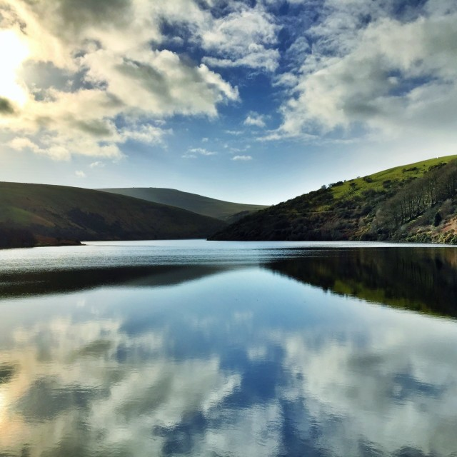 """Meldon Dam & Reservoir, Devon, UK"" stock image"