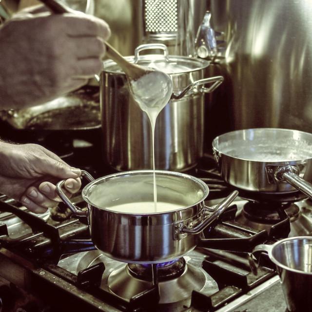 """""""making sauce"""" stock image"""