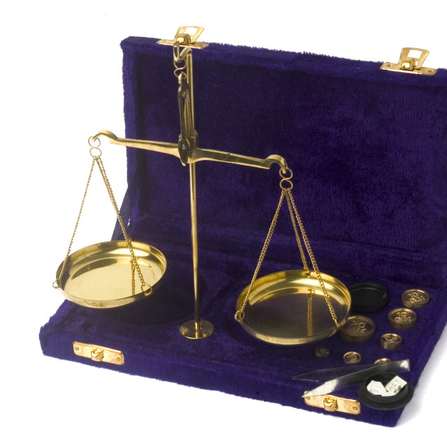 """Balance has plates"" stock image"