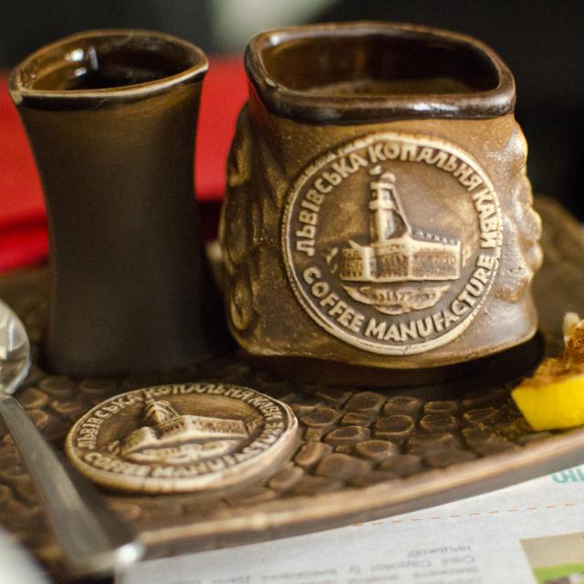 """""""Lviv Handmade Coffee"""" stock image"""
