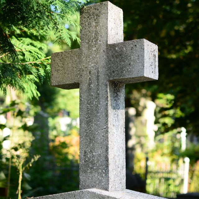 """Gravestone cross"" stock image"