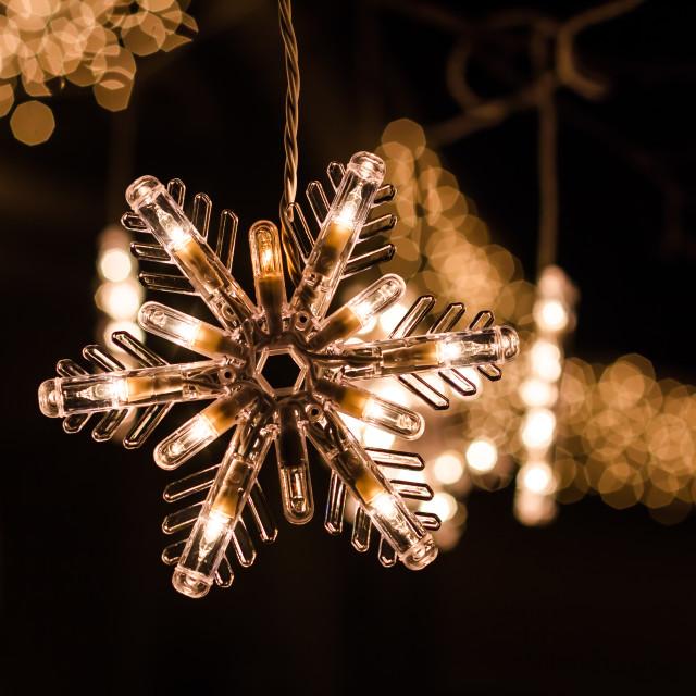 """Snowflake Light"" stock image"