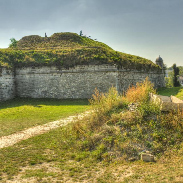 """Zolochiv Castle fortifications, Ukraine"" stock image"