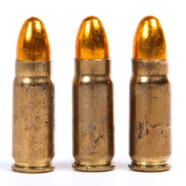 """""""three ammunition for firearms"""" stock image"""