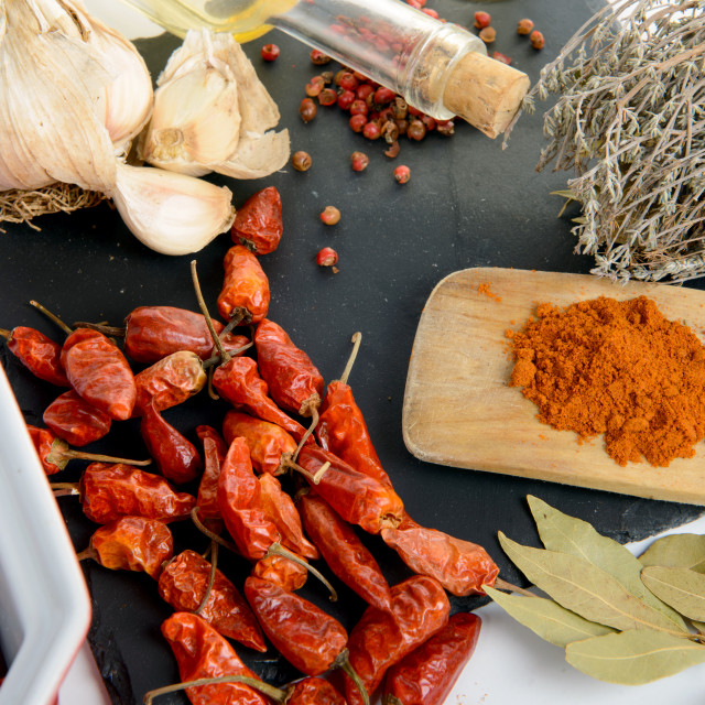 """ingredients for spicy sauce"" stock image"
