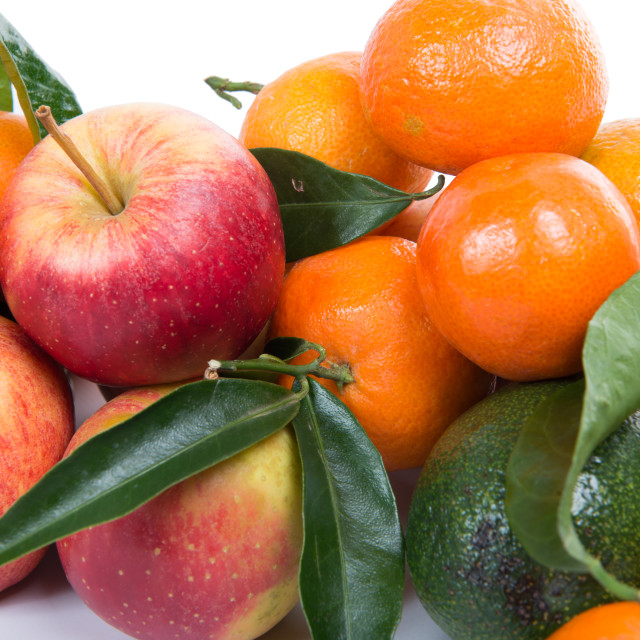 """apples and tangerines"" stock image"