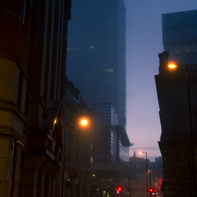 """Cities In The Mist"" stock image"