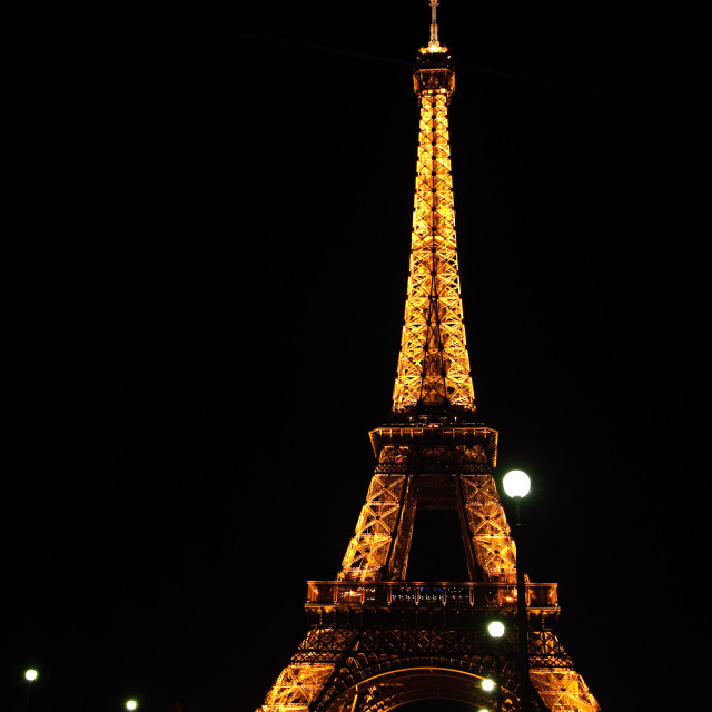 """Eiffel Tower at Night 2"" stock image"