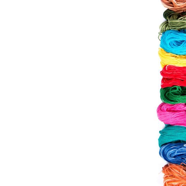 """""""embroidery thread skeins of different colors"""" stock image"""