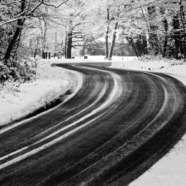"""""""Frozen road"""" stock image"""